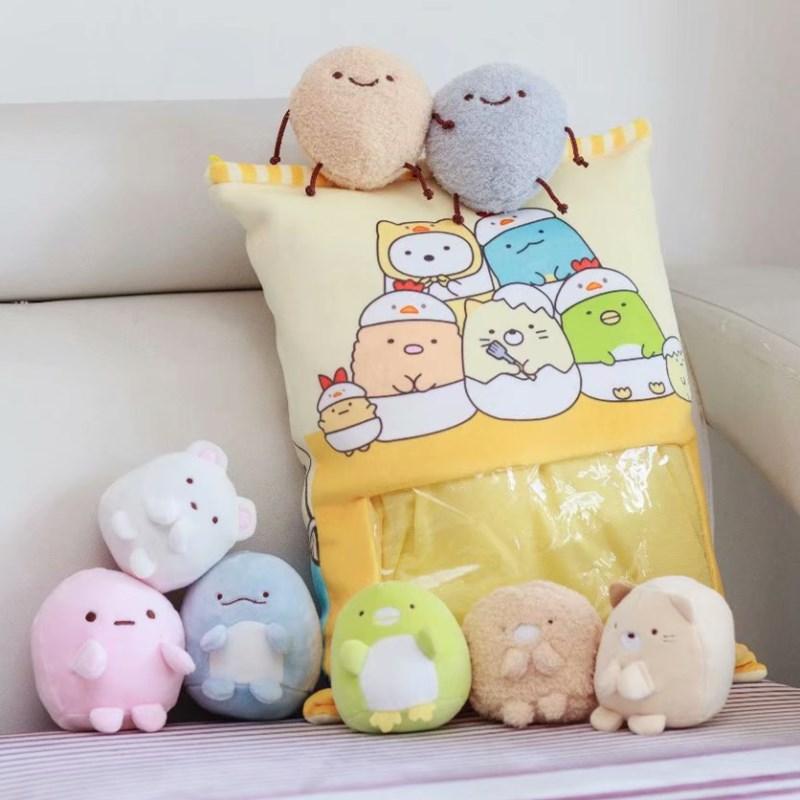 日本创意零食抱枕角落生物公仔床上睡觉布娃娃韩国女孩可爱萌礼物