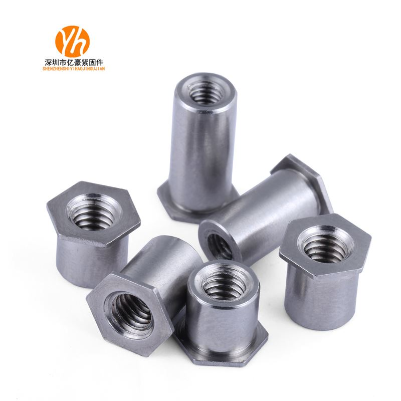 SOS * 3.5m3 * 3-12 304 stainless steel through hole riveting stud hexagon riveting nut bottom hole 5.4