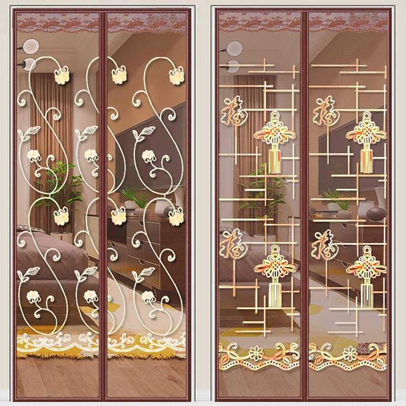 魔术贴防蚊门帘磁性沙门夏季纱窗防虫通风家用卧室隔断高档免打孔
