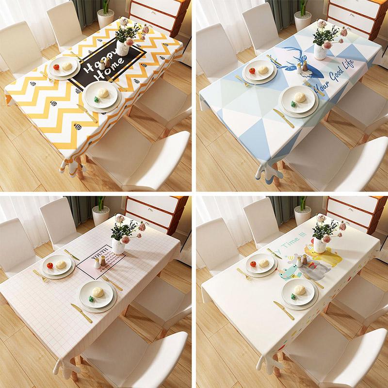 防水防油免洗防烫网红ins风北欧桌垫桌面保护膜电视柜小茶几桌布