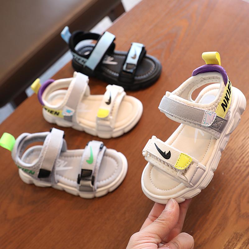儿童宝宝凉鞋女童韩版2021新款夏季男童潮防滑软底小童鞋小孩鞋子