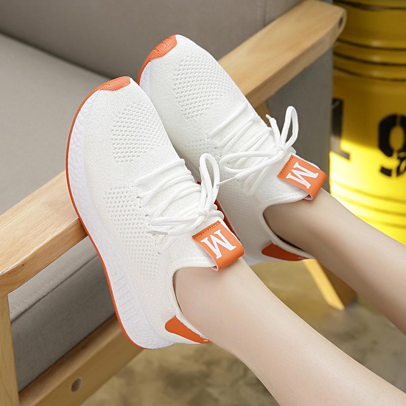 2021秋季新款女士椰子鞋女软底运动鞋女韩版百搭学生简约飞织女鞋