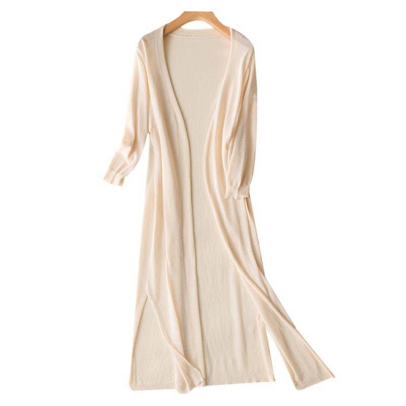 防晒衣女夏中长款开衫2020韩版薄款外搭宽松空调冰丝大码针织外套