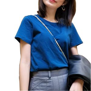 领【10元券】购买2021年新款经典流行色宝石蓝t恤