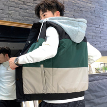 Male Majia Fall and Winter 2019 New Korean Edition Men's Jacket with Fashion, Handsome and Handsome Shoulder and Warm Down Cotton Jacket