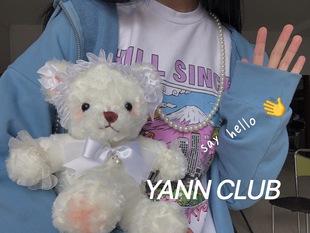 YANN/妹妹的小熊包 原創手作lolita洛麗塔lo娘熊改包斜跨包可雙肩