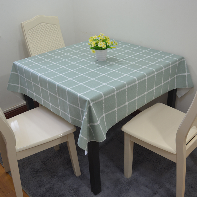 Thickened PVC Cotton Linen Tablecloth waterproof, anti scald, anti oil, wash free small fresh tea table square dining table square tablecloth