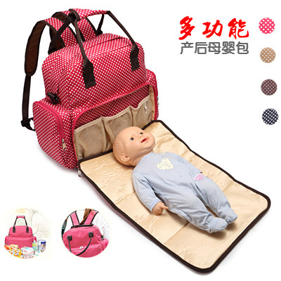 女性のバッグの大容量の出産待ちの宝の母の母の母の母のバッグの手のスーツケースの肩を斜めに掛けて、多機能のリュックサックを掛けます。