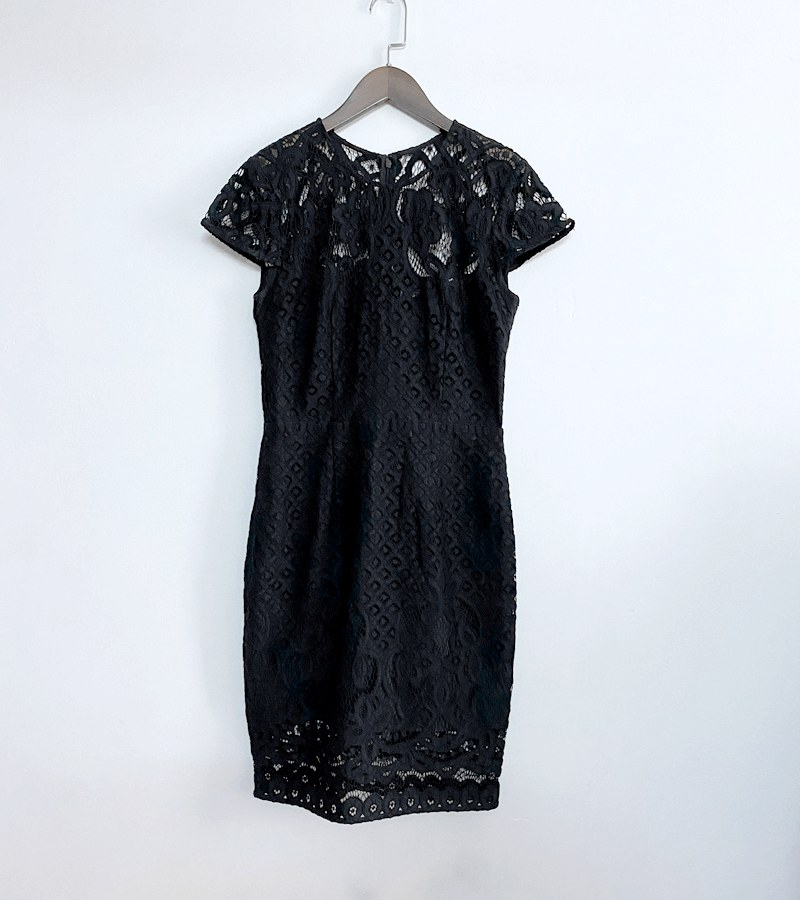 entry lux. The price of moving house is disorderly. All water soluble embroidery heavy industry slim dress only has a small medium size