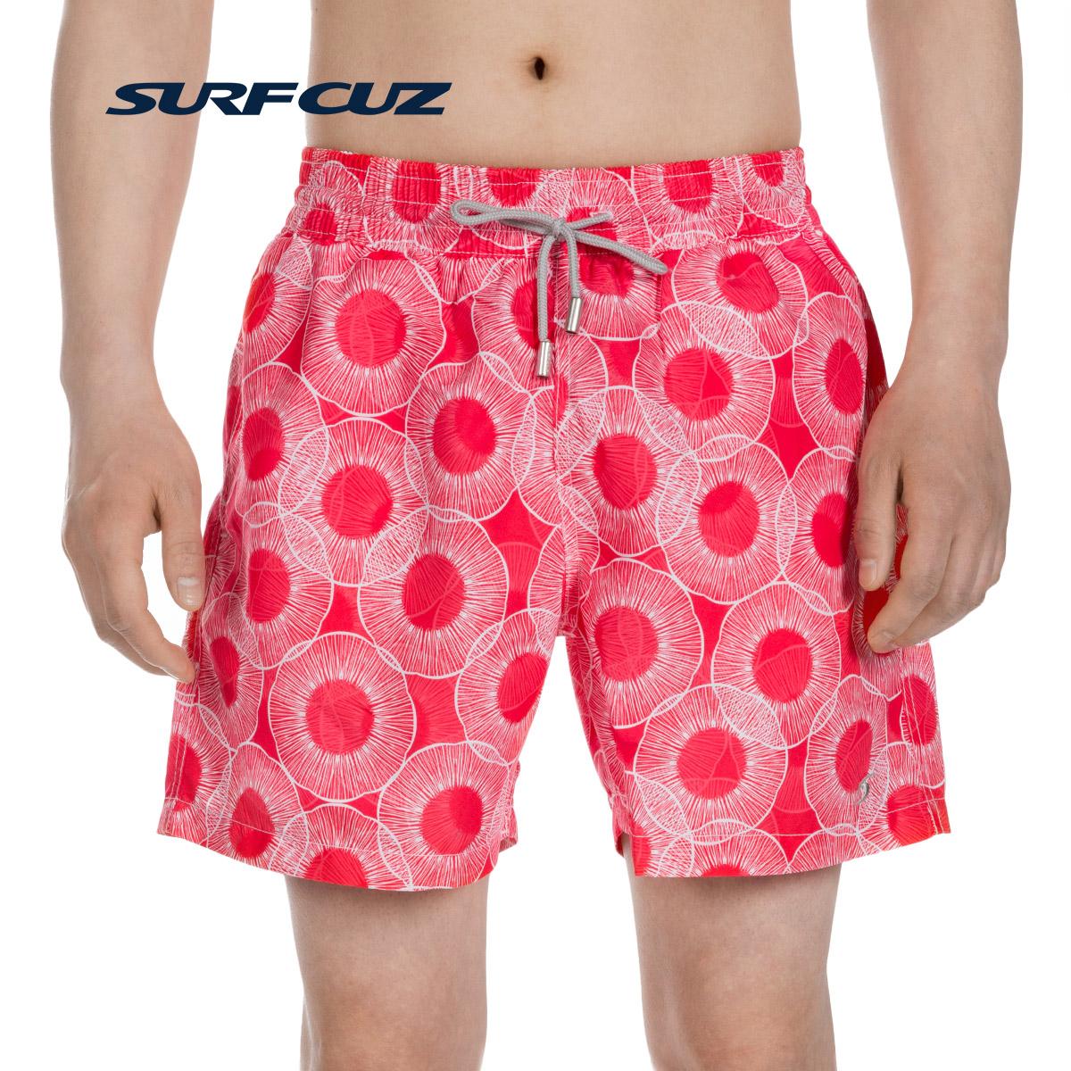 surfcuz 情侣水母款沙滩裤男速干海边度假夏季短裤男女游泳短裤