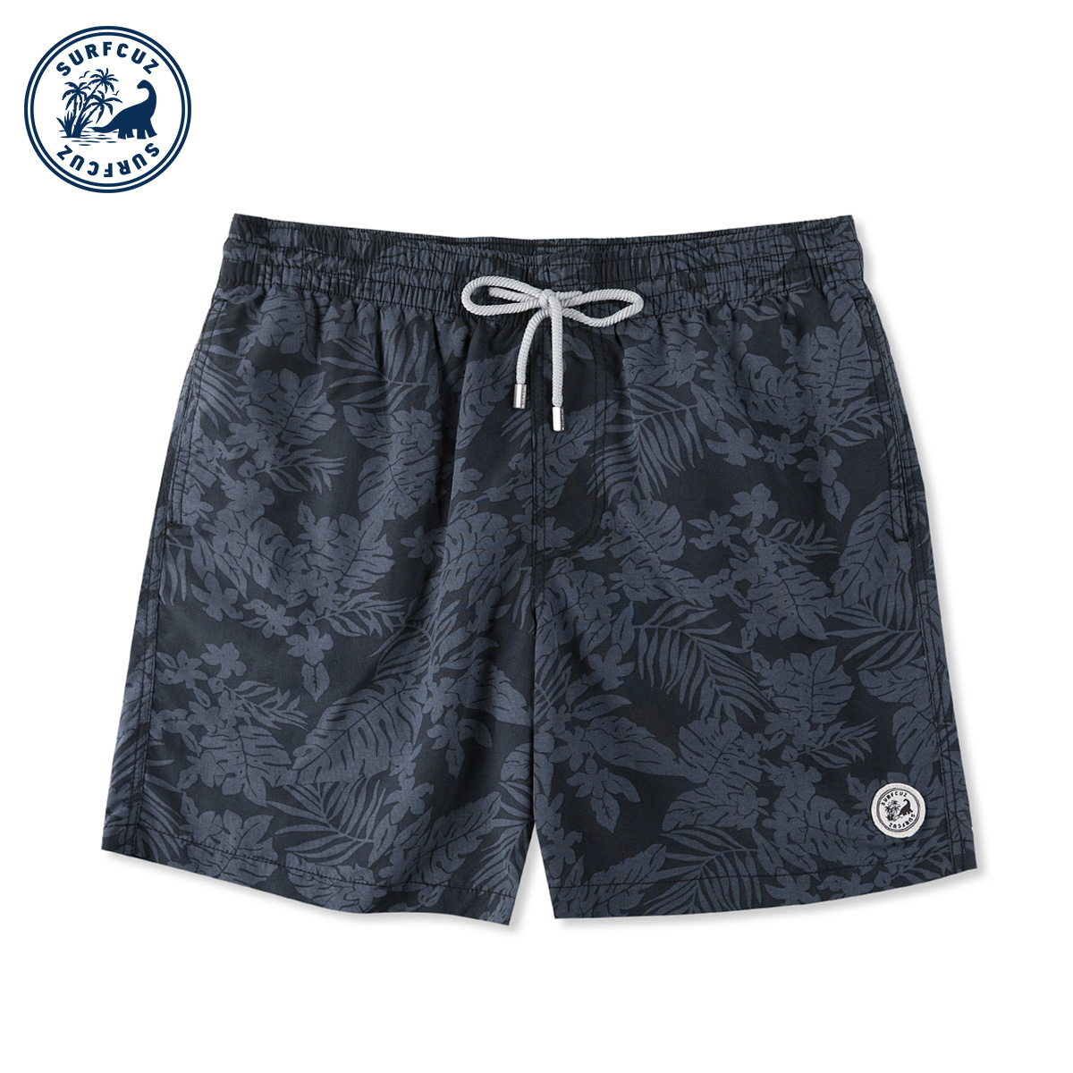 surfcuz 夏季短裤男速干沙滩裤海边度假泳裤男水上乐园宽松有内衬