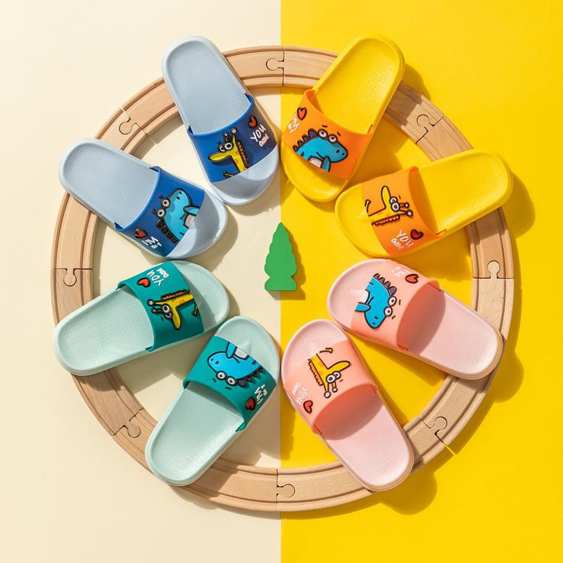 儿童拖鞋夏季男女童室内防臭家用防滑软底可爱卡通小孩亲子凉拖鞋