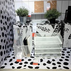 新品IKEA宜家代购德瑞约恩 信盘桌面抽屉A4纸文件架办公用品双层