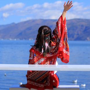民族风围巾超大防晒披肩夏季薄款外搭丝巾女士百搭海边纱巾沙滩巾图片
