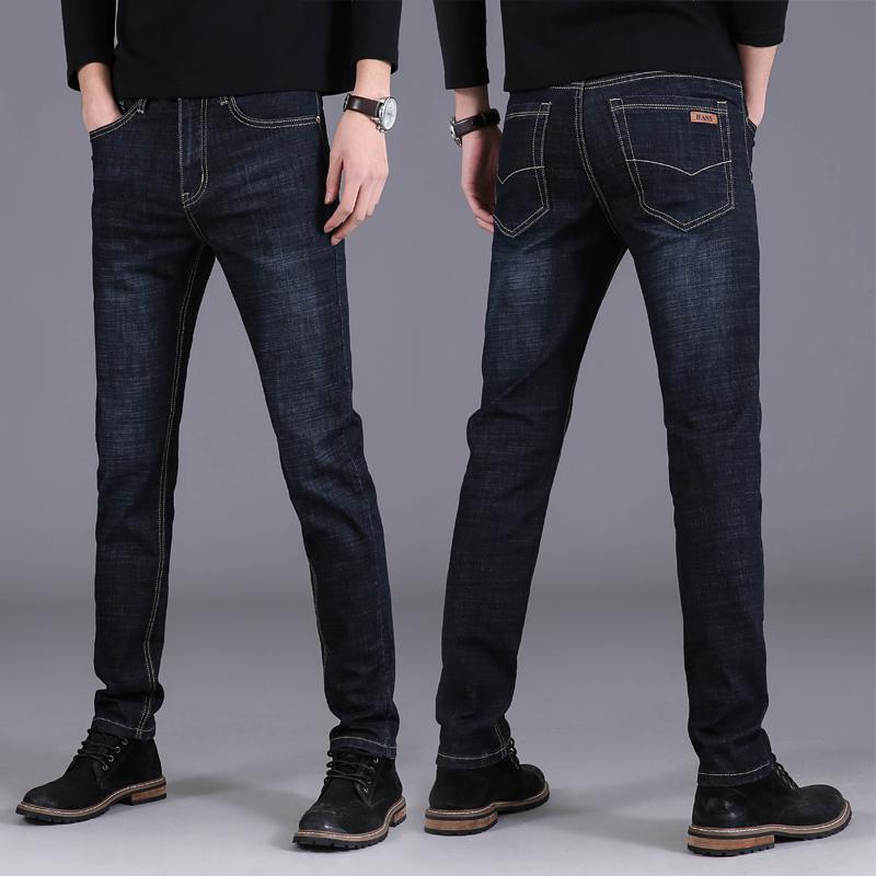 秋季薄款男士牛仔裤修身小脚