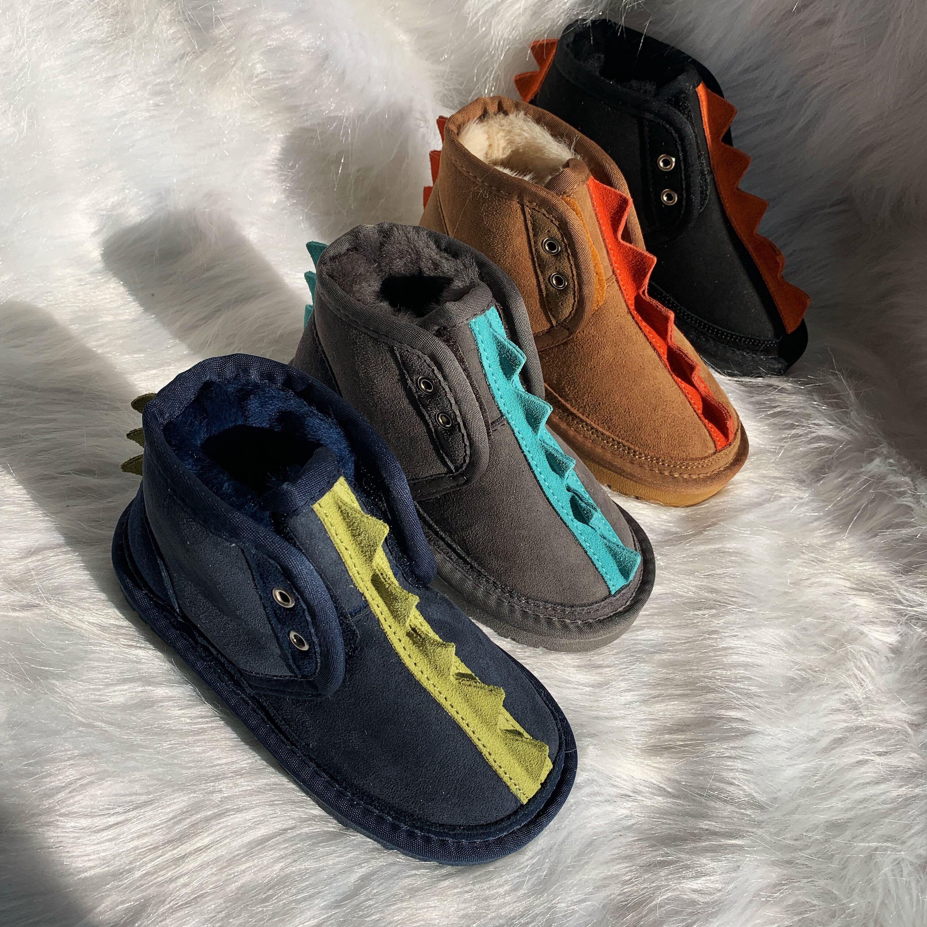 2021新款正品ESТUGG儿童雪地靴羊皮毛一体男童女童防水防滑童鞋