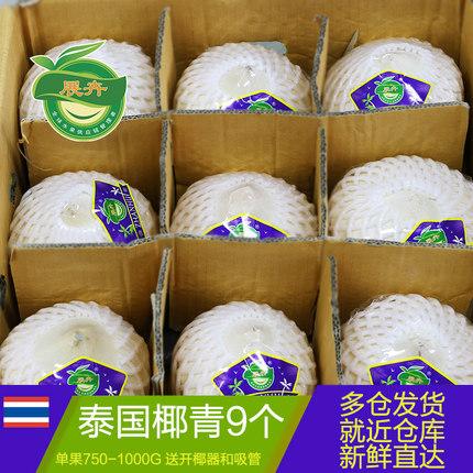 展卉椰青新鲜椰子水泰国香水椰青进口包邮9个装大号耶子孕妇水果