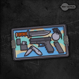 AK27武力EDC 魔术章 臂章 战术 户外 个性 士气章贴章 包布贴图片