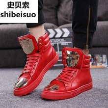 Sbeso high top shoes men's Europe station men's shoes spring trend shoes 2018 new GZ shoes men's Korean Trend gaobang