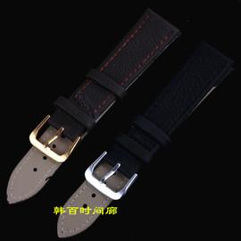 荔枝紋牛皮表帶 手表皮帶 手表表帶 表鏈 防水皮帶男女 鐘表配件圖片