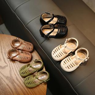 夏季 宝宝凉鞋 软底 女童罗马公主鞋 包头镂空凉鞋 透气婴儿学步鞋 新款