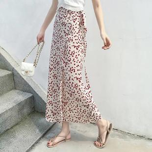 一片裙子繫帶一塊布式裙子半身一片式夏雪紡長裙騎車遮擋防曬腿裙