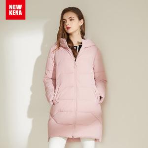 冬季外套女棉衣2019年新款女装连帽棉服中长款韩版宽松棉袄外套潮