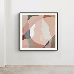 饰画小众简约艺术挂画沙发墙色彩主义组合画 素梵 北欧抽象线条装