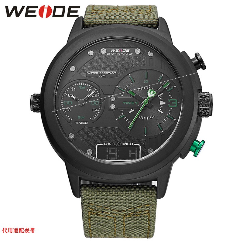 , fashionable canvas trendsetter watch, mens personality creative wristwatch, multi-function electronic watch, hip hop rock punk watch 64
