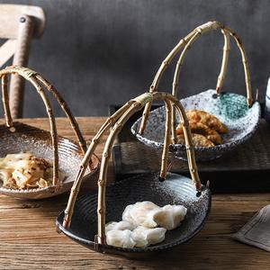 领1元券购买创意陶瓷盘子特色餐厅餐具水果篮子