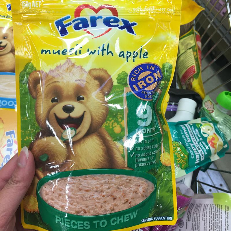 Farex婴幼儿宝宝苹果谷物营养米粉9M+150g 适合9个月以上宝宝