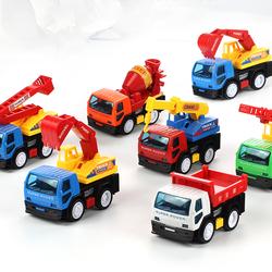 惯性工程车套装组合回力车小汽车消防车儿童挖掘机玩具男孩宝宝