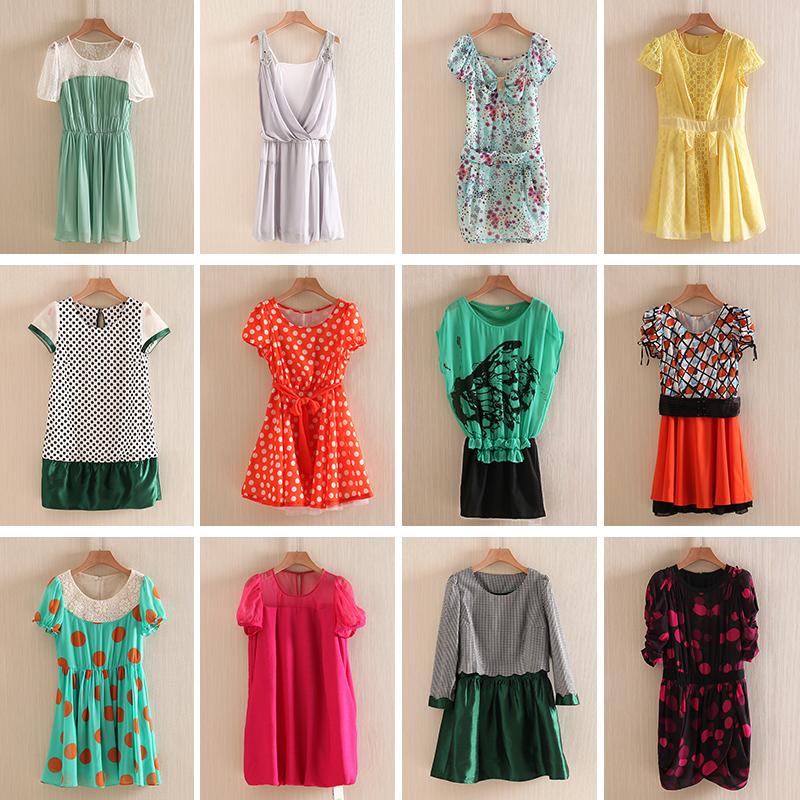 多色多款 连衣裙 1件包邮 虾米女装品牌折扣专柜正品剪标女装夏