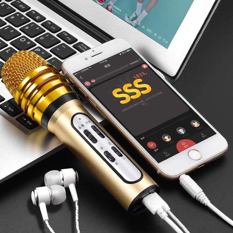 渥赢 W11全民k歌麦克风手机全名k歌神器唱歌专用带声卡耳机小话筒安卓苹果通用