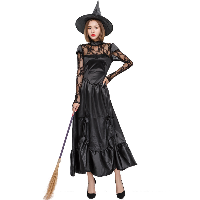 Halloween Adult Witch Dress Sexy Lace witch role play witches stage costume