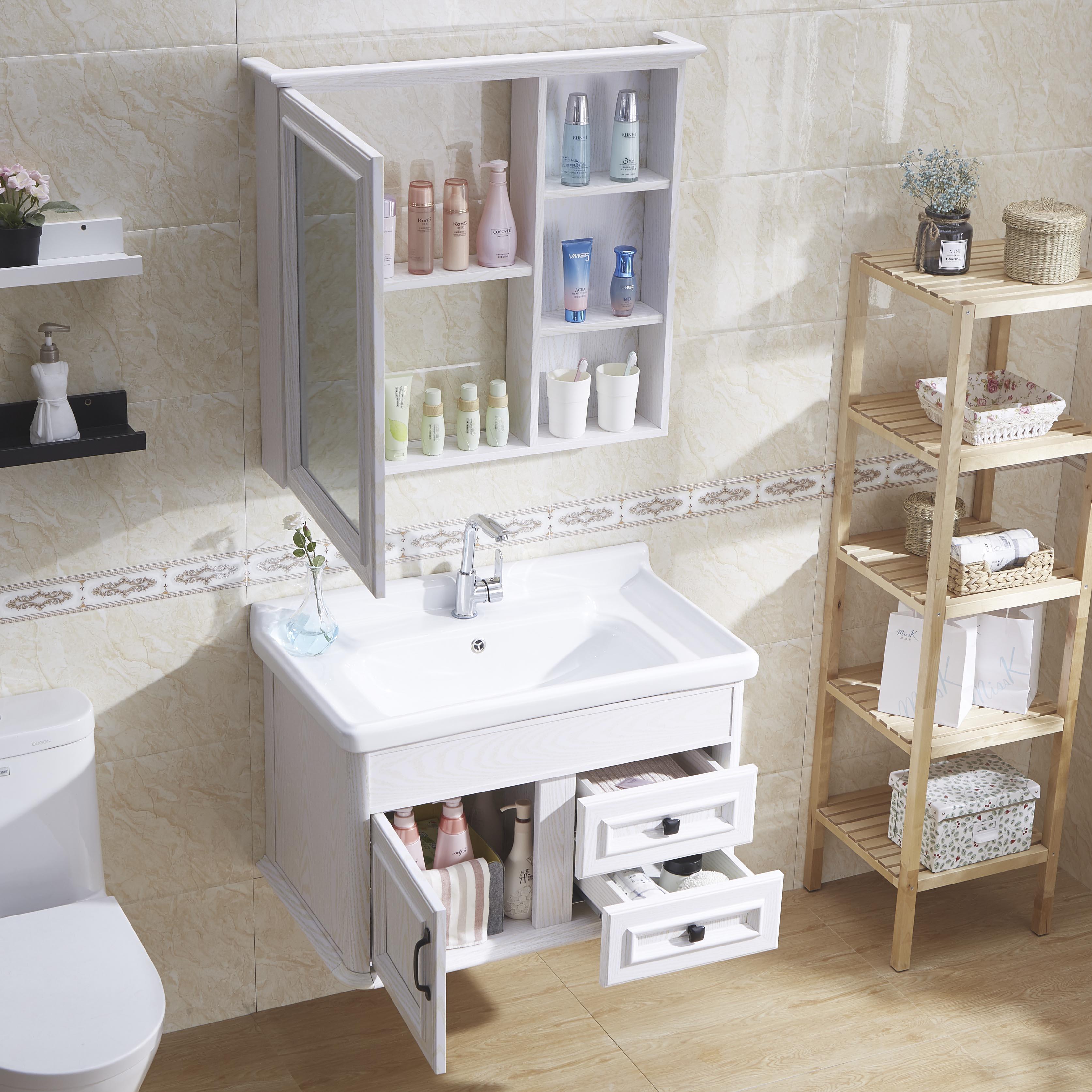 (用10元券)浴室柜组合卫生间洗漱台洗脸盆池现代简约面盆洗手盆柜碳纤维卫浴