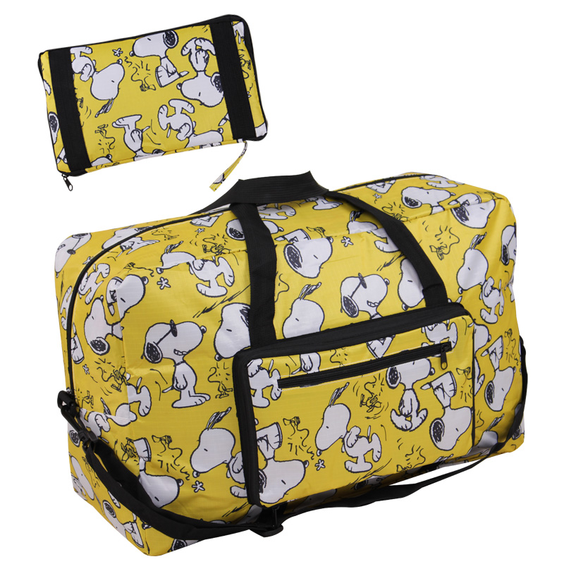 Snoopy cute cartoon foldable portable travel bag travel boarding light waterproof luggage can cover Trolley Case
