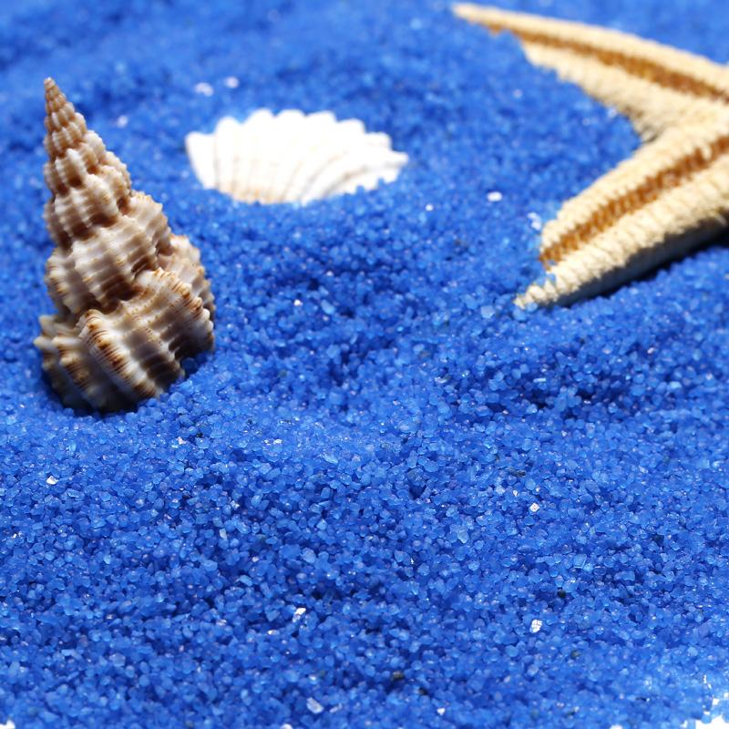 500 г разноцветный Песок мелкий песок темно голубой Декоративный песочный резервуар с кварцевым песком