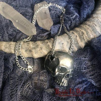 英国正版 ALCHEMY P886 Remains残骸歌特吸血鬼尖牙头骨骷髅项链