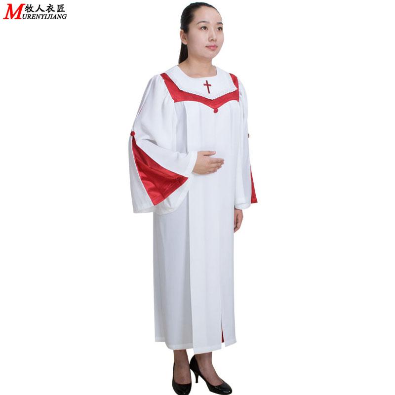 教会服装服饰圣诗服诗班服唱诗袍唱诗服基督教舞蹈演出服MRY007
