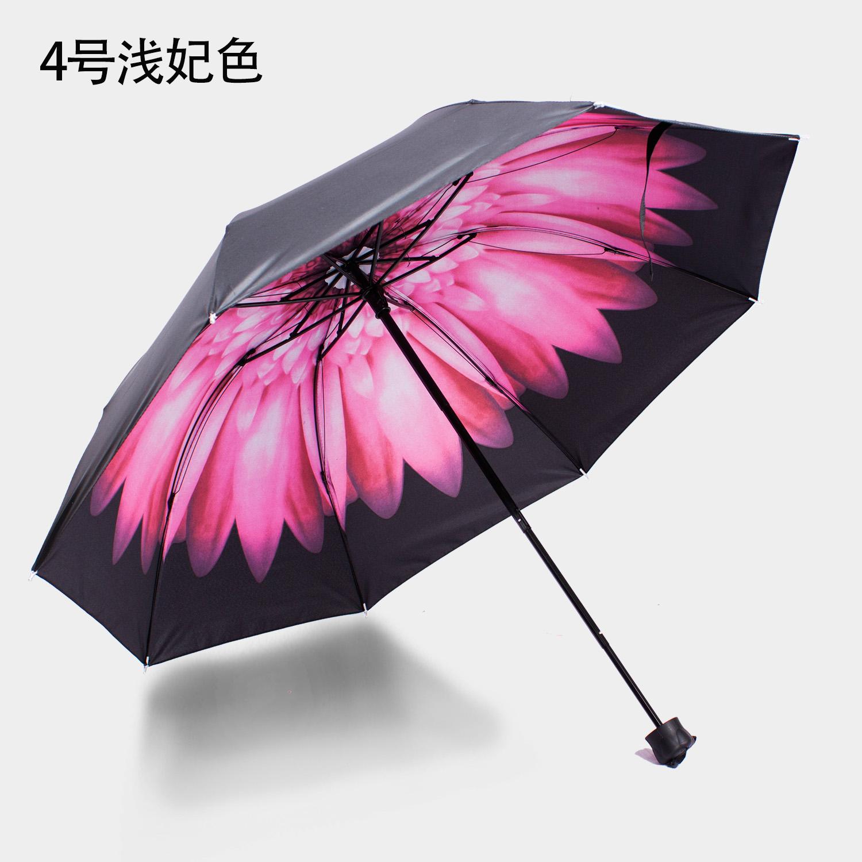 日よけの小さい黒い傘の男女の黒いゴムの晴雨の両用の日傘の日よけのアイデア
