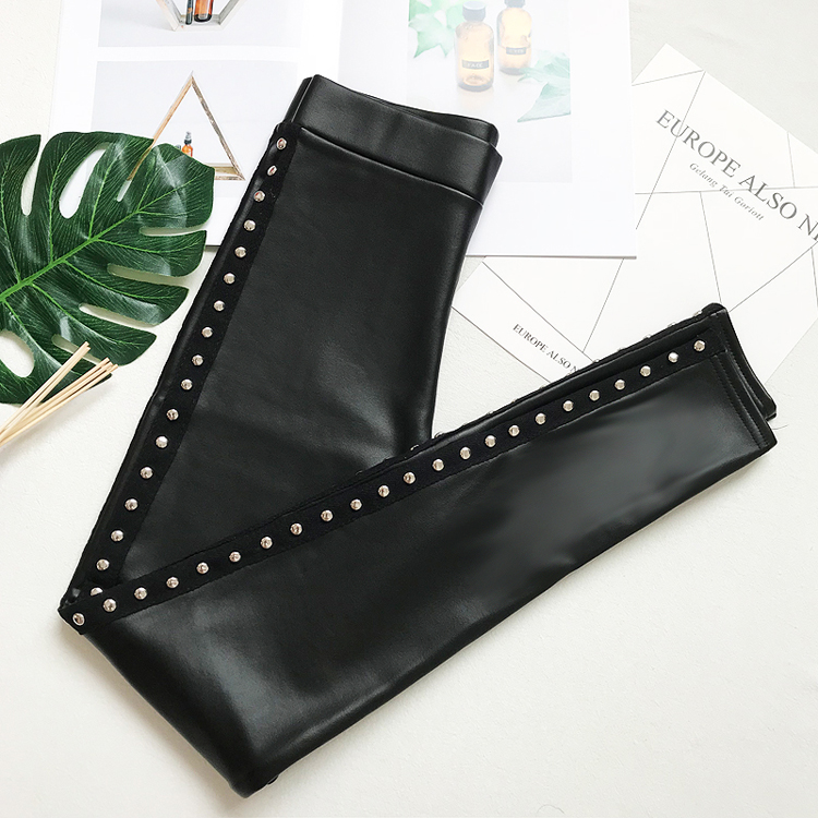Autumn and winter base PU leather pants for women 2018