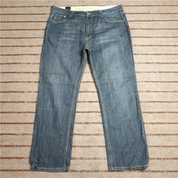 09点 二手 美国高端品牌 男士大码直筒高腰牛仔裤 W106 W469