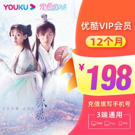 优酷vip黄金会员12个月youku土豆视频vip会员1年卡填手机号直充图片