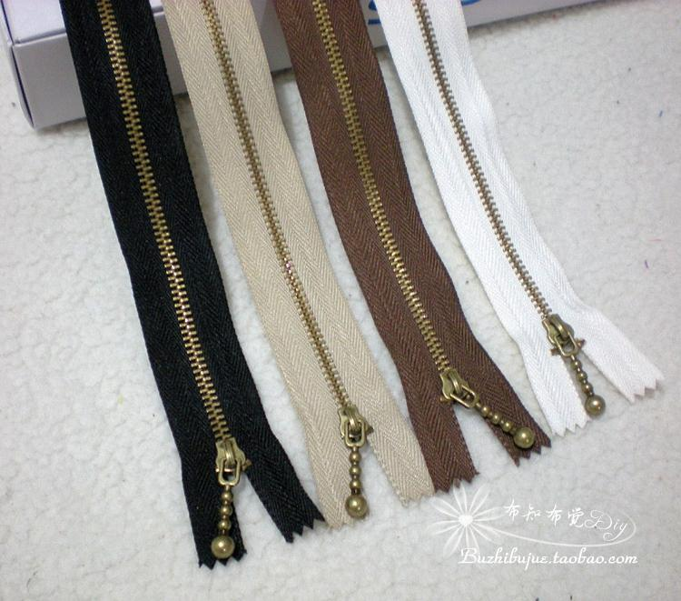 No.3 bronze zipper 30cm40cm closed trunk bag zipper hand DIY accessories with drop tab