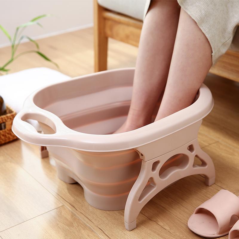 日本折叠女按摩加高家用便携泡脚盆11月16日最新优惠