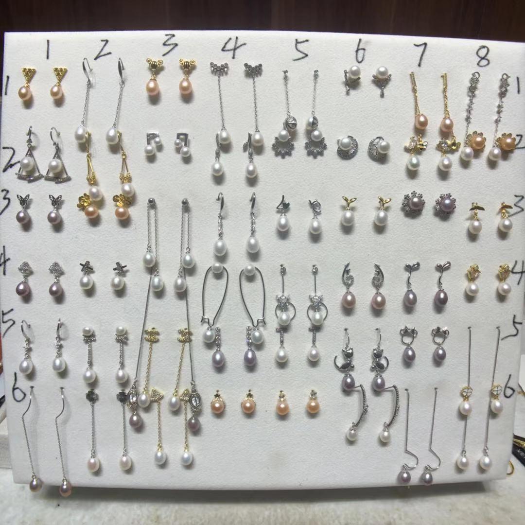 【お母さんの家】天然真珠ピアスラインS 925銀120元4対赤字福祉