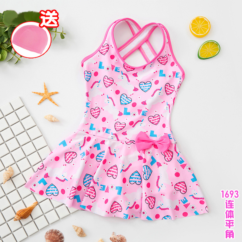 Childrens swimsuit girls one-piece swimming I yongy Yongyi Korean version of Princess Aisha Paiqi skirt cute baby swimsuit