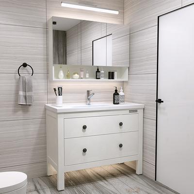 北欧浴室柜洗脸洗手盆柜组合现代简约免漆卫生间洗漱台卫浴落地式