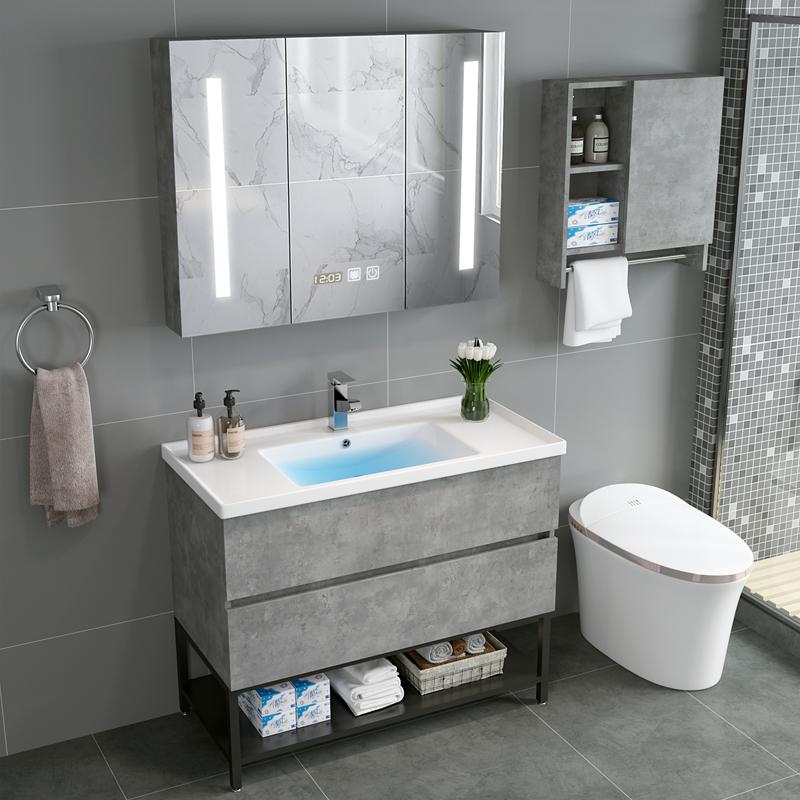 热销4件有赠品智能组合现代简约洗手盆柜柜浴室柜